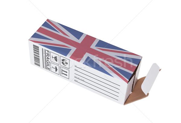 Esportazione prodotto Regno Unito carta finestra Foto d'archivio © michaklootwijk
