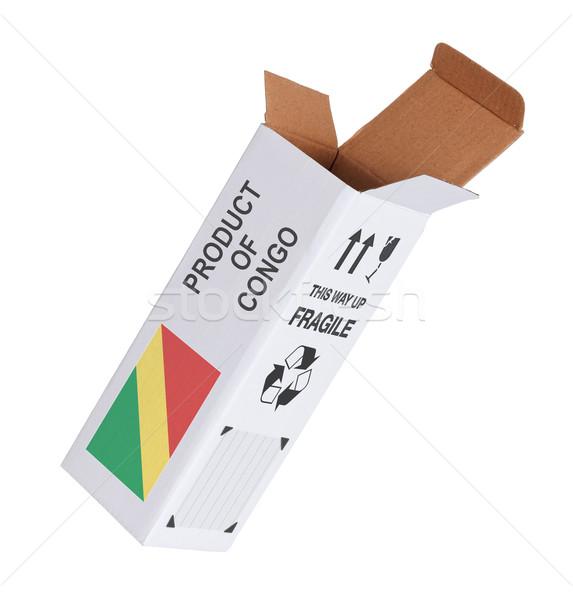 Ihracat ürün Kongo kâğıt kutu Stok fotoğraf © michaklootwijk
