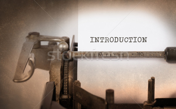 Vintage schrijfmachine oude roestige introductie Stockfoto © michaklootwijk