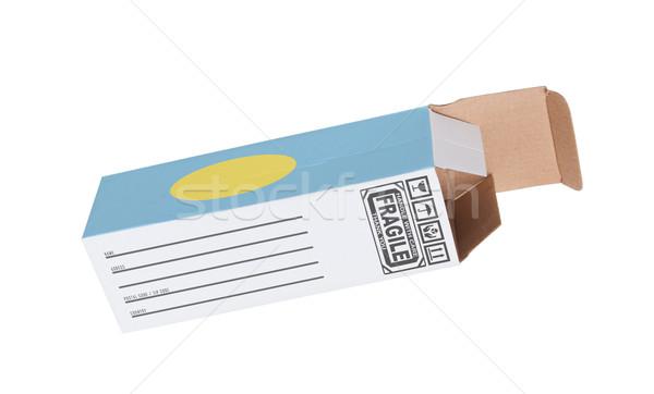 ストックフォト: エクスポート · 製品 · パラオ · 紙 · ボックス