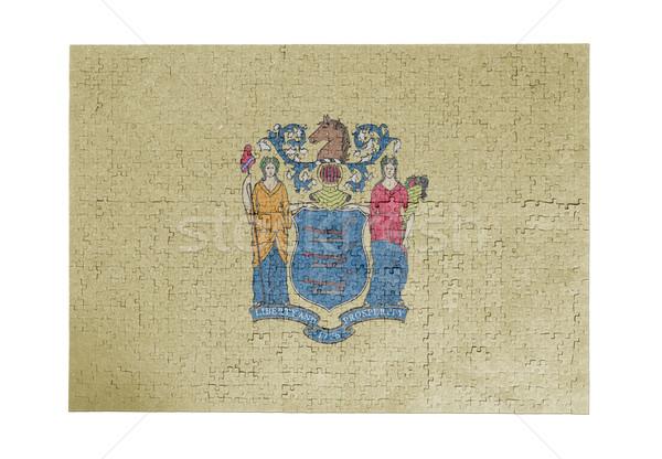 Groot 1000 stukken New Jersey vlag Stockfoto © michaklootwijk