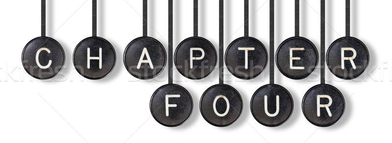 Máquina de escribir botones aislado capítulo cuatro blanco Foto stock © michaklootwijk