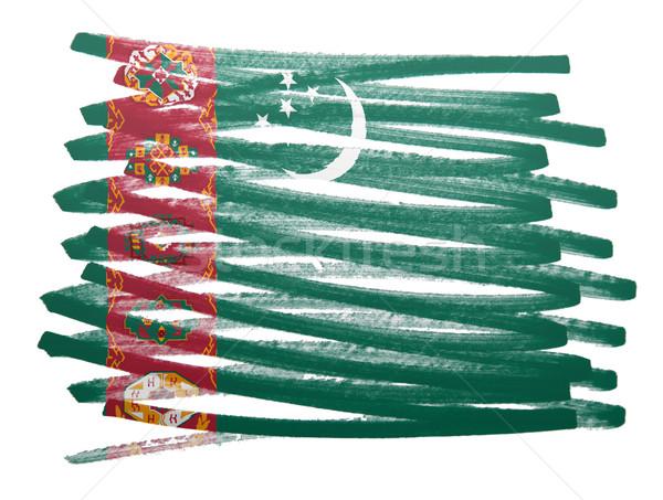 Zászló illusztráció Türkmenisztán toll üzlet festék Stock fotó © michaklootwijk
