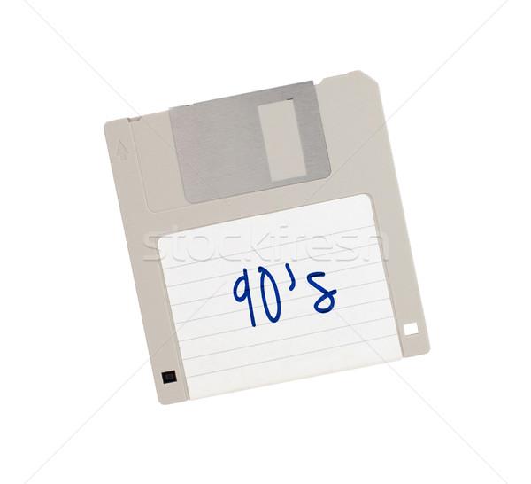 Сток-фото: диск · прошлое · изолированный · белый · пер · информации
