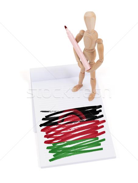манекен рисунок Малави флаг бумаги Сток-фото © michaklootwijk