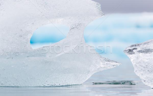 Close-up of melting ice in Jokulsarlon - Iceland Stock photo © michaklootwijk