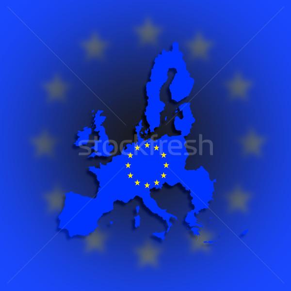 Illustratie kaart europese unie eu vlag Stockfoto © michaklootwijk