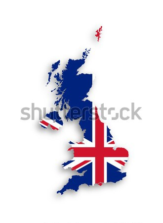 Map of the United Kingdom of Great Britain and Northern Ireland  Stock photo © michaklootwijk