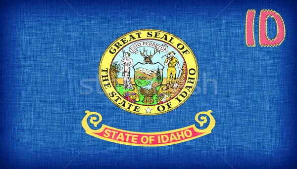 Bandeira Idaho abreviatura assinar tecido Foto stock © michaklootwijk