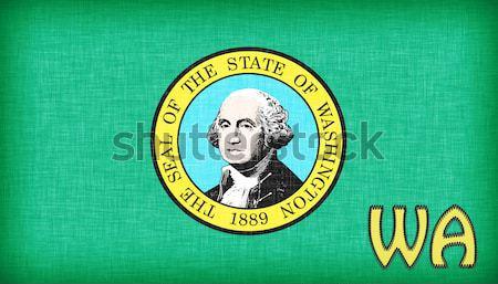 Kaart Washington achtergrond reizen silhouet grafische Stockfoto © michaklootwijk
