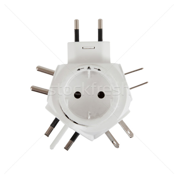 Five different power plugs in one Stock photo © michaklootwijk