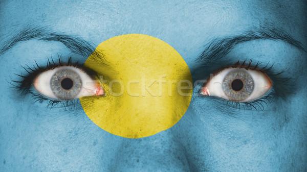 目 フラグ 描いた 顔 パラオ ストックフォト © michaklootwijk