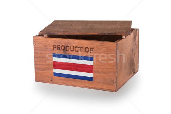 Houten geïsoleerd witte product Costa Rica Stockfoto © michaklootwijk