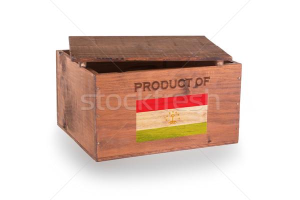 Stock fotó: Fából · készült · láda · izolált · fehér · termék · Tádzsikisztán