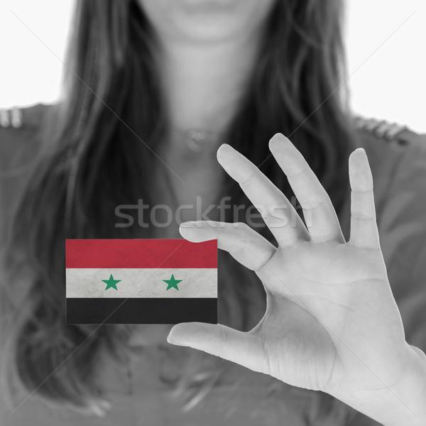 Mulher cartão de visita Síria espaço terno Foto stock © michaklootwijk