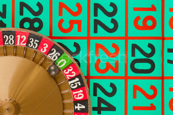Roulette table, wheel and ball Stock photo © michaklootwijk