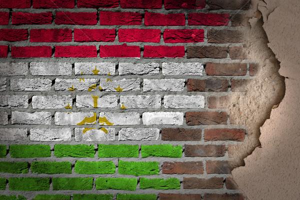 Dark brick wall with plaster - Tajikistan Stock photo © michaklootwijk