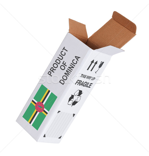 Exporteren product Dominica papier vak Stockfoto © michaklootwijk