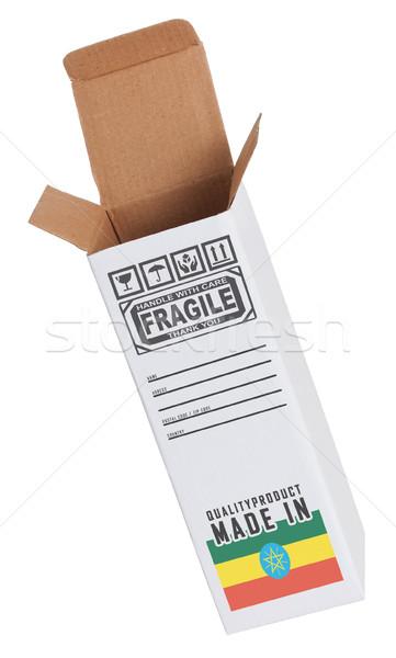 Eksport produktu Etiopia papieru polu Zdjęcia stock © michaklootwijk