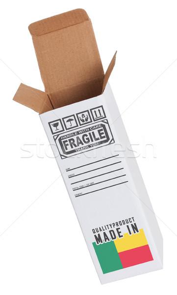 Exportar producto Benin papel cuadro Foto stock © michaklootwijk
