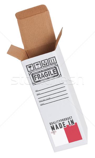 Export termék Málta kinyitott papír doboz Stock fotó © michaklootwijk