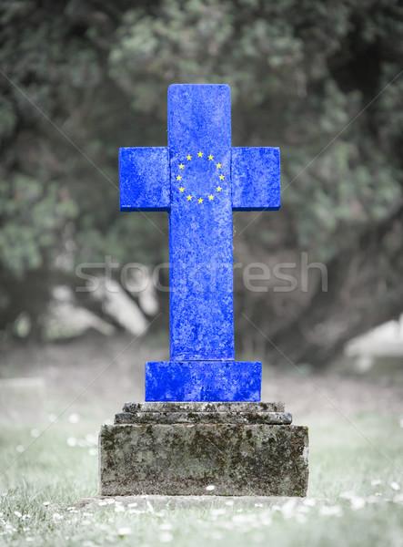 Lápida sepulcral cementerio europeo Unión edad capeado Foto stock © michaklootwijk