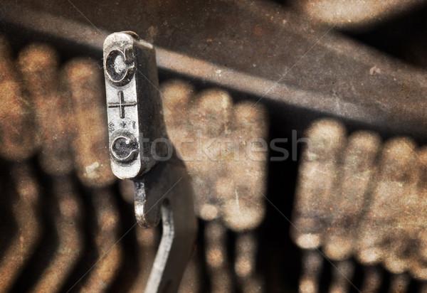 C hammer - old manual typewriter - warm filter Stock photo © michaklootwijk