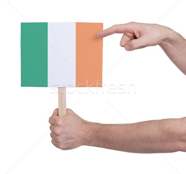 Mano pequeño tarjeta bandera Irlanda Foto stock © michaklootwijk
