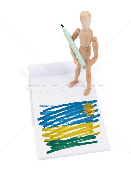 Wooden mannequin made a drawing - Rwanda Stock photo © michaklootwijk