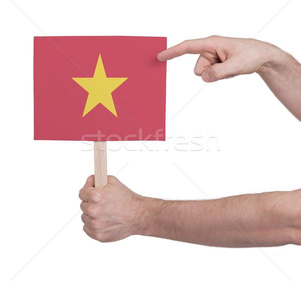 手 小 カード フラグ ベトナム ストックフォト © michaklootwijk