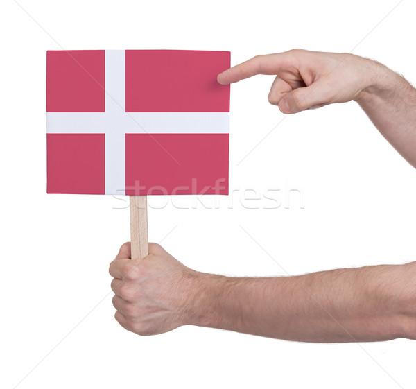 Hand klein kaart vlag Denemarken Stockfoto © michaklootwijk