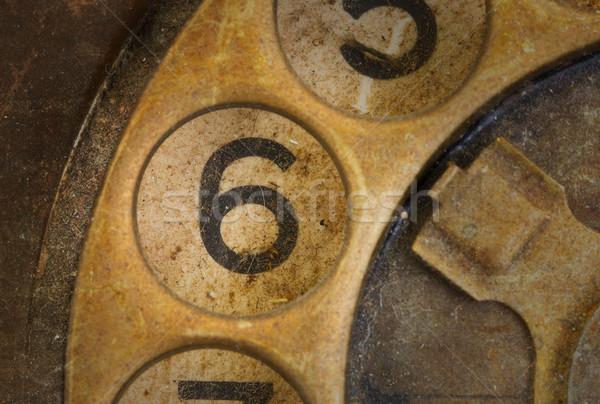 Vintage teléfono marcar sucia oficina Foto stock © michaklootwijk