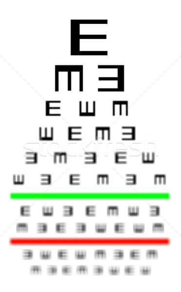 Сток-фото: зрение · испытание · диаграммы · очки · медицина