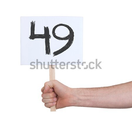 Sign with a number, 7 Stock photo © michaklootwijk