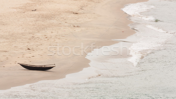 Abandoned wooden boat Stock photo © michaklootwijk