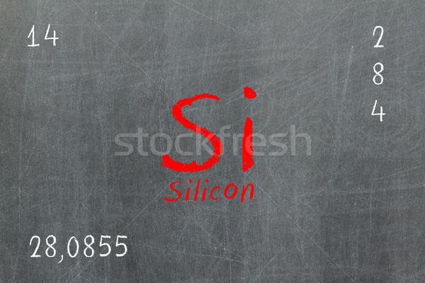 孤立した 黒板 周期表 シリコン 化学 学校 ストックフォト © michaklootwijk