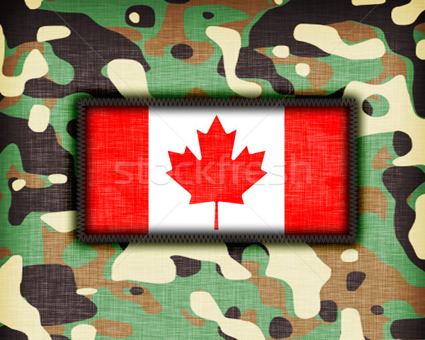 Amy camouflage uniform, Canada Stock photo © michaklootwijk