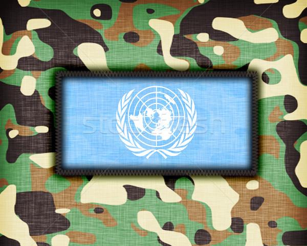 álca egyenruha UN zászló absztrakt zöld Stock fotó © michaklootwijk