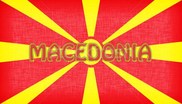 флаг Македонии письма изолированный текстуры знак Сток-фото © michaklootwijk