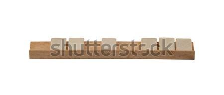 öreg társasjáték kockák fehér levelek ötlet Stock fotó © michaklootwijk