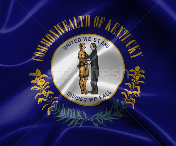 Saten bayrak üç boyutlu vermek Kentucky doku Stok fotoğraf © michaklootwijk