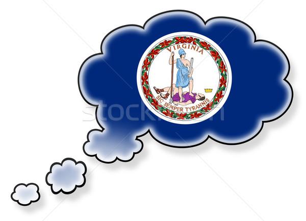 Bayrak bulut yalıtılmış beyaz Virjinya sanat Stok fotoğraf © michaklootwijk
