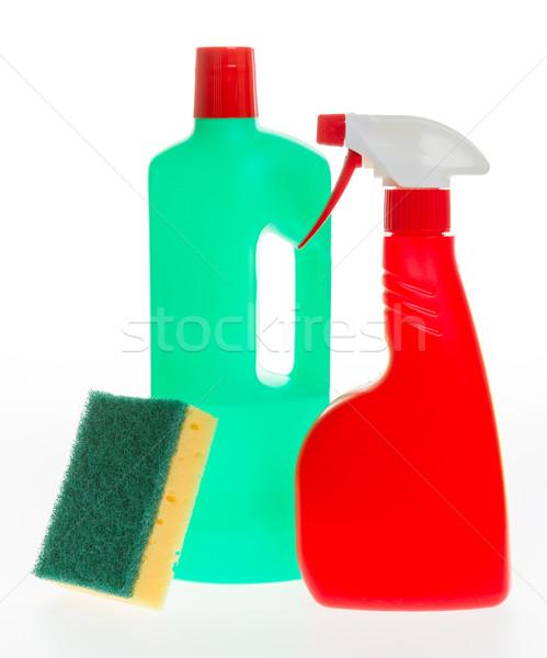 Casa limpeza produto plástico garrafas detergente Foto stock © michaklootwijk