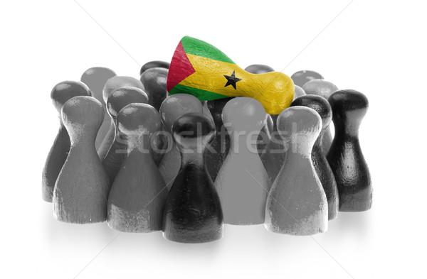 Egy egyedi gyalog felső zászló család Stock fotó © michaklootwijk
