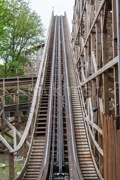 Large wooden rollercoaster Stock photo © michaklootwijk