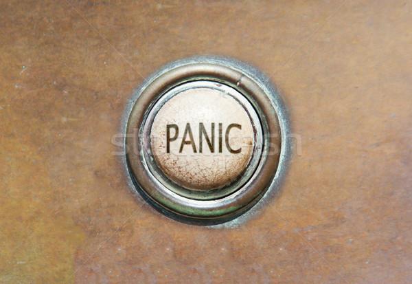 Starych przycisk panika grunge obraz czerwony Zdjęcia stock © michaklootwijk