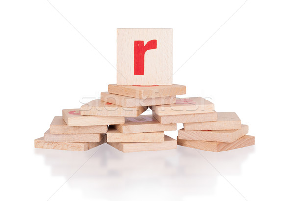Alphabet - letter R Stock photo © michaklootwijk
