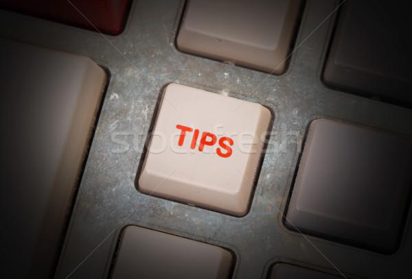 Blanche bouton sale vieux panneau mise au point sélective Photo stock © michaklootwijk