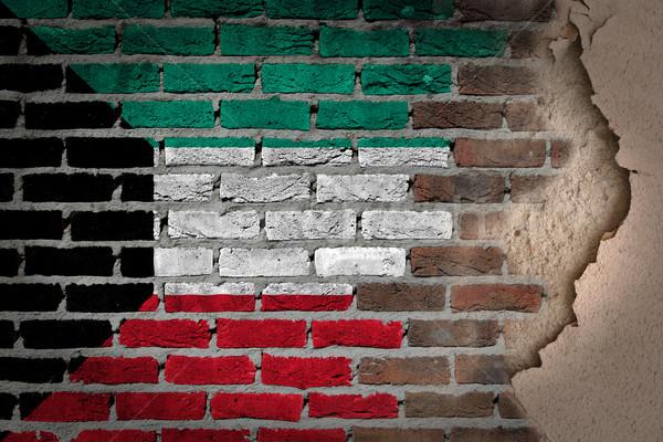 Sombre mur de briques plâtre Koweit texture pavillon Photo stock © michaklootwijk
