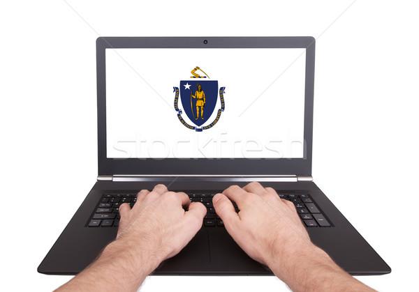 Hands working on laptop, Massachusetts Stock photo © michaklootwijk